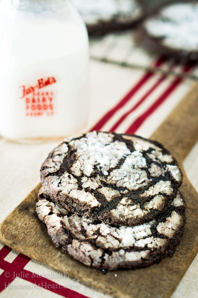 If you love Chocolate Cookies with rich chewy centers and a delicate outer crunch, you are going to love these cookies and it makes enough to share! | HostessAtHeart.com