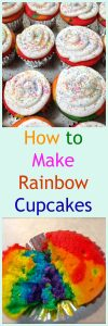 These Rainbow Cupcakes were made for a very special Girl Scout activity but they would be so much fun for a Birthday party too! They're guaranteed to WOW! | HostessAtHeart.com