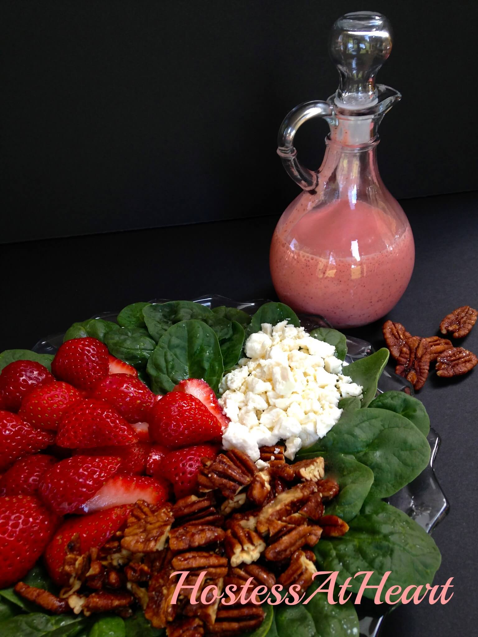 Strawberry Salad with Strawberry Vinaigrette