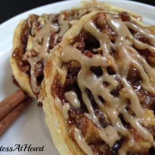 Apple pecan pastry is perfect for breakfast. The warm apple and cinnamon flavors are perfect with that first cup of coffee in the morning. - HostessAtHeart