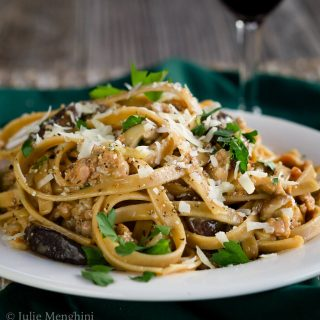 Fettuccine with Sausage and Mushrooms