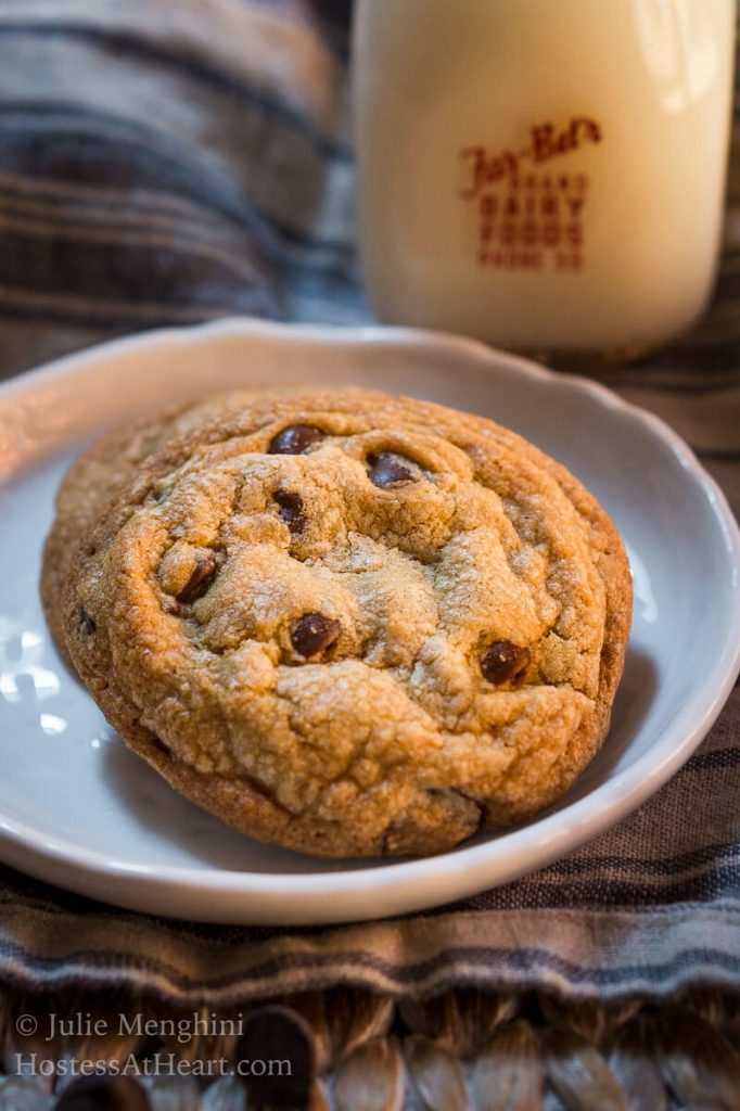 I've baked a lot of cookies, and nothing has ever competed with My Favorite Chocolate Chip Cookie. They're slightly crunchy on the edge with a soft center. | HostessAtHeart.com