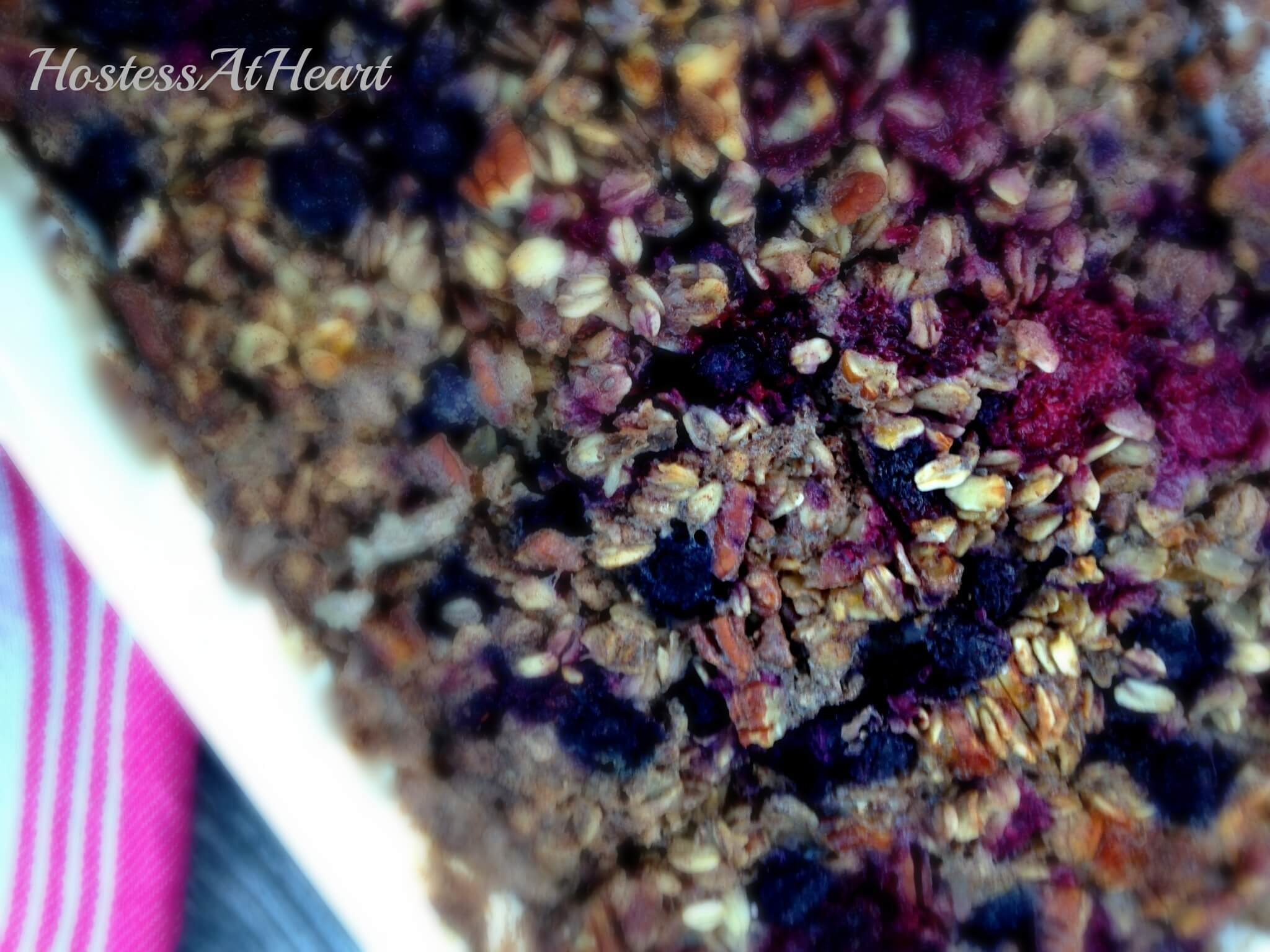 Baked Berry Nut Oatmeal - HostessAtHeart