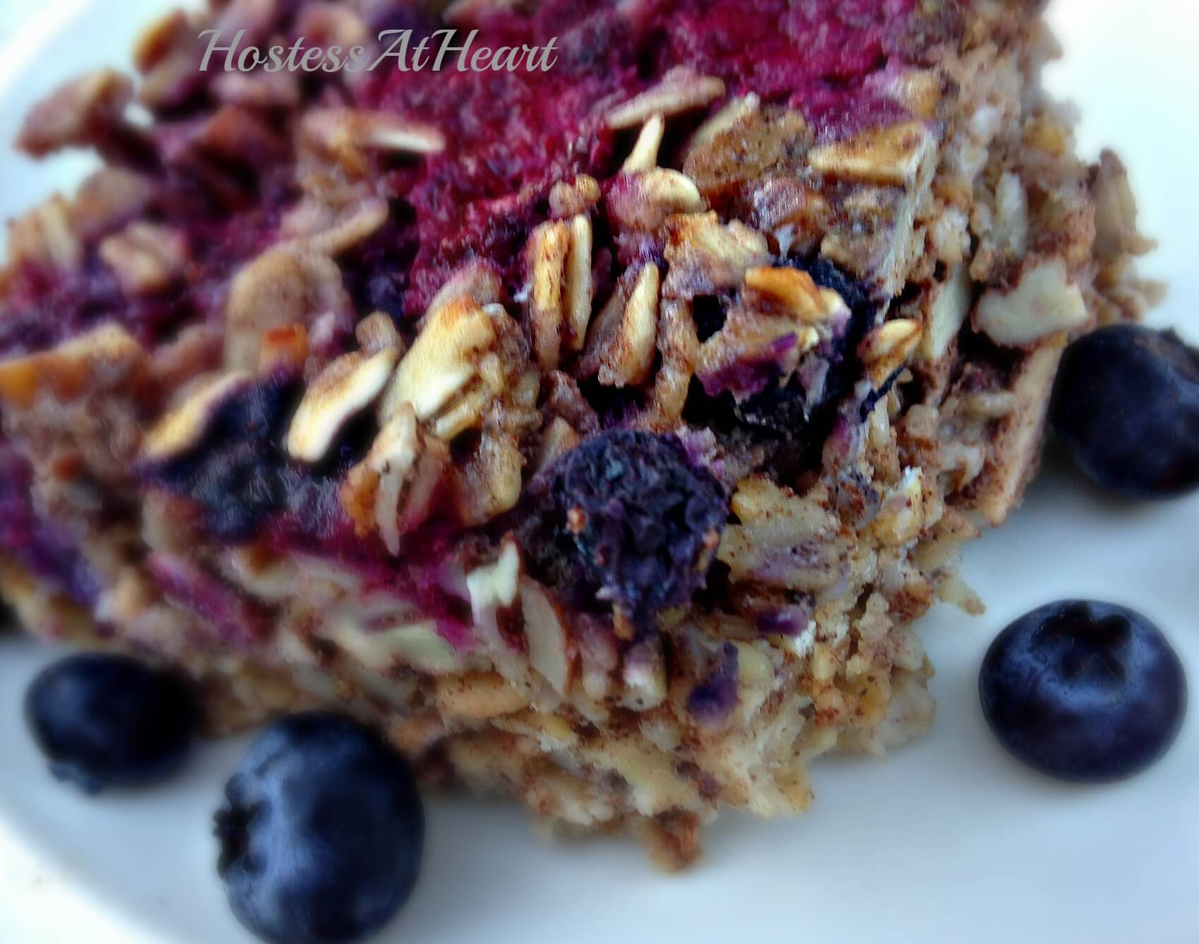 Berry Nut Oatmeal Slice - HostessAtHeart