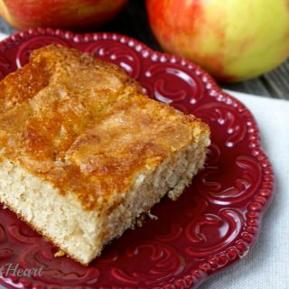 You only need one apple for this Dutch Apple Cake. It is a quick and easy dessert to put together, and the perfect dessert for a chilly fall day. | HostessAtHeart.com