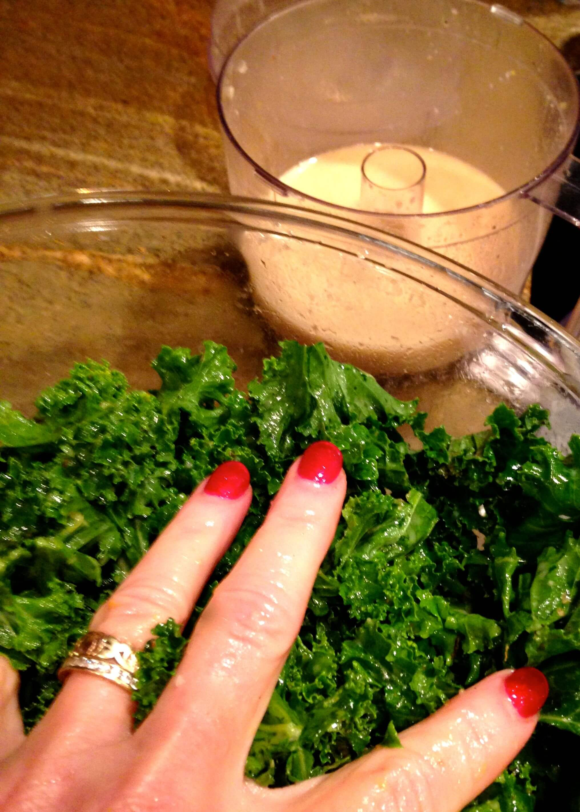 Massaging Kale : HostessAtHeart