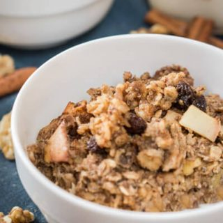Cinnamon Apple Baked Oatmeal is an easy to make dish that is just as delicious as it is healthy. Best of all, It will keep you feeling full all morning long. HostessAtHeart.com