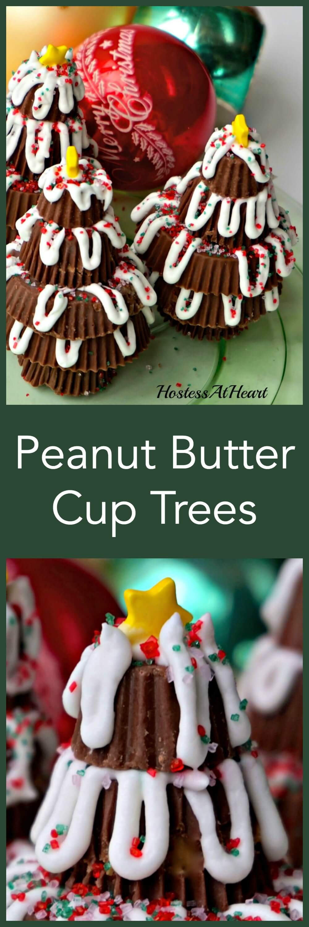 Peanut Butter Cup Trees make an adorable place setter on your table as well as a great after dinner treat. The whole family will have fun making their own. | HostessAtHeart.com