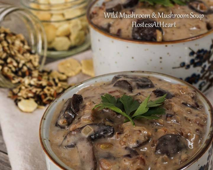 Wild Rice and Mushroom Soup is such a wholesome dish. It tastes warm, rich, and creamy and is a perfect meal on it's own or side with a sandwich or salad. - HostessAtHeart