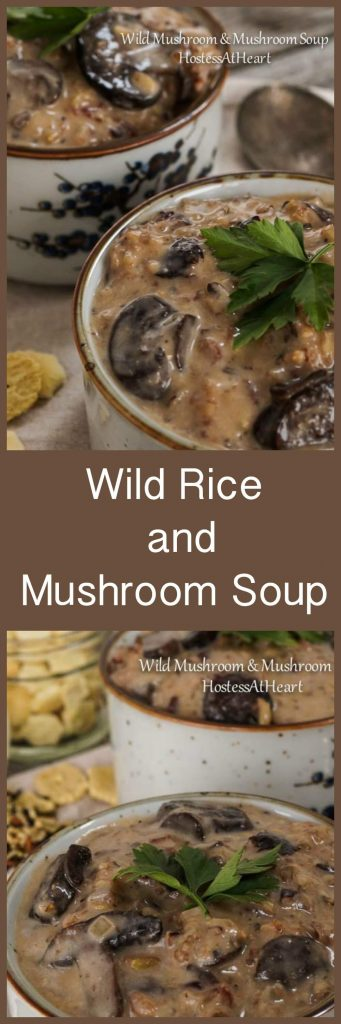 Wild Rice and Mushroom Soup is such a wholesome dish. It tastes warm, rich, and creamy and is a perfect meal on it's own or side with a sandwich or salad. | HostessAtHeart.com