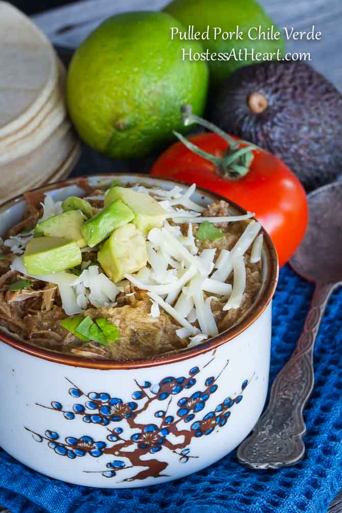 Pulled Pork Chile Verde - HostessAtHeart