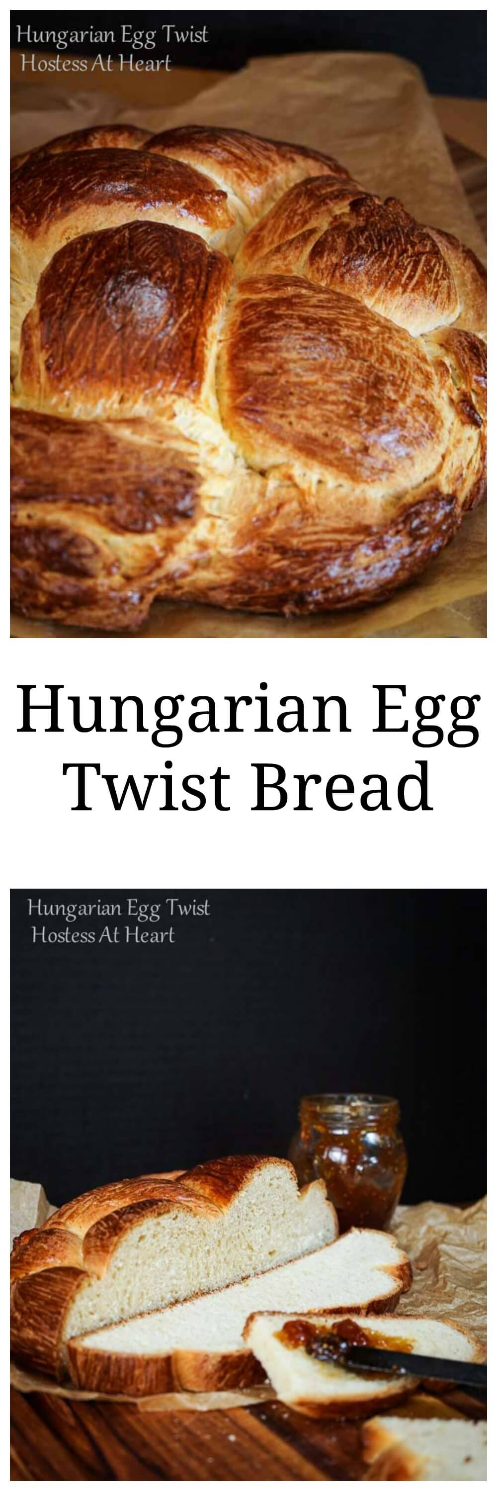 Hungarian Egg Twist bread is perfect for everyday or dressed up for a special occasion. You can sprinkle in nuts and dried fruit or other additions to this sweetened bread or eat it as is. | HostessAtHeart.com