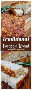 Pin collage of Focaccia bread