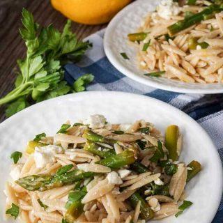Asparagus Orzo Salad - Hostess At Heart