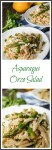 Asparagus Orzo Salad is an easy and delicious salad that is made with whole grain orzo, fresh lemon, crisp asparagus, and feta. It makes the perfect summer dish! | HostessAtHeart.com
