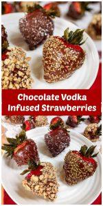 Chocolate Vodka Infused Strawberries