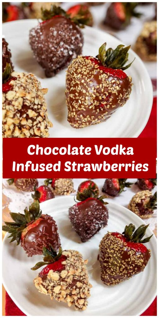 Chocolate Vodka Infused Strawberries