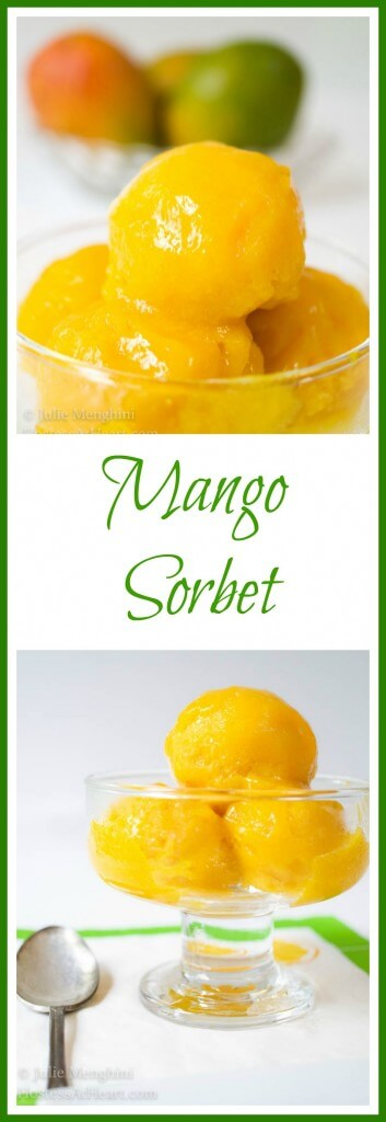 Mango Sorbet | Hostess At Heart