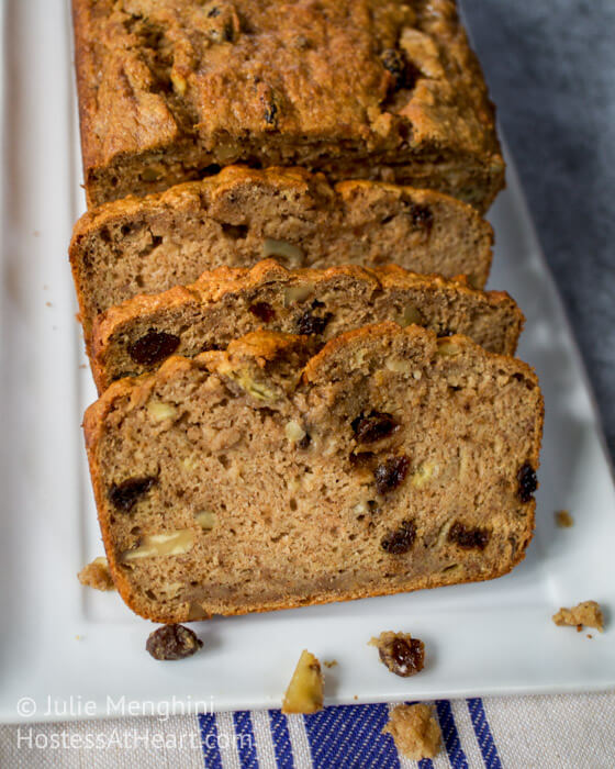 Apple Harvest Banana Bread | Hostess At Heart