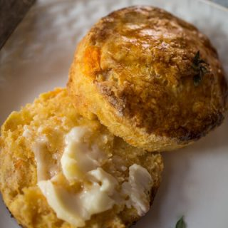 Herb Topped Sweet Potato Biscuits   Hostess At Heart