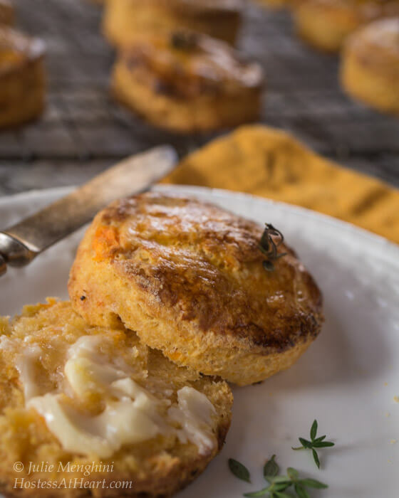 Herb Topped Sweet Potato Biscuits | Hostess At Heart