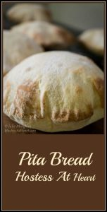 A light tender and easy to make pita bread that is still strong enough to completely fill up. This pita is easy to make and delicious to eat.   HostessAtHeart