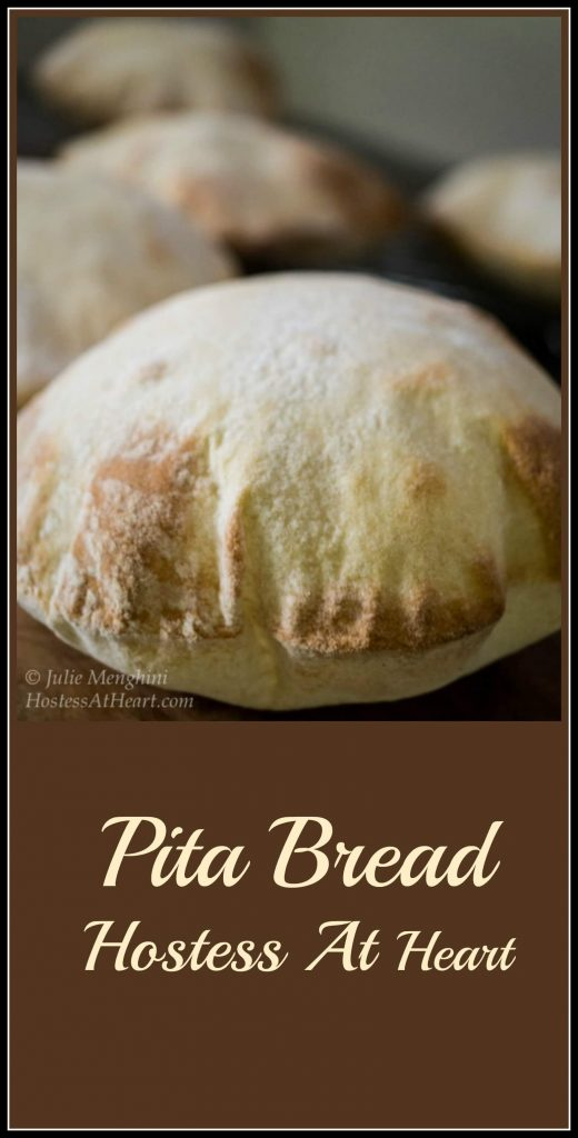 A light tender and easy to make pita bread that is still strong enough to completely fill up. This pita is easy to make and delicious to eat. | HostessAtHeart