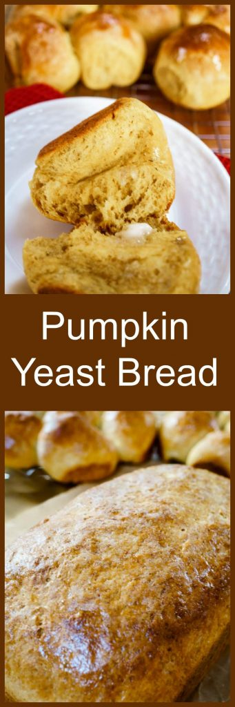 Light and delicious Pumpkin Yeast Bread makes a beautiful addition to any meal. This recipe is easy, versatile, and perfect for your holiday table. You can make delicious loaves, rolls or both! | HostessAtHeart.com