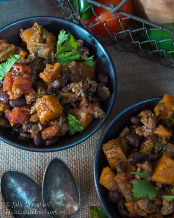Sweet Potato and Black Bean Chili | Hostess At Heart-