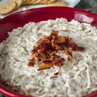 Caramelzed Onion and Bacon Dip | Hostess At Heart