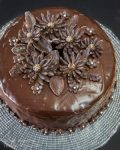 Top view of a whole Black Russian Cake