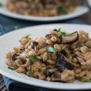 Farro with Mushrooms is a delicious and wholesome recipe.