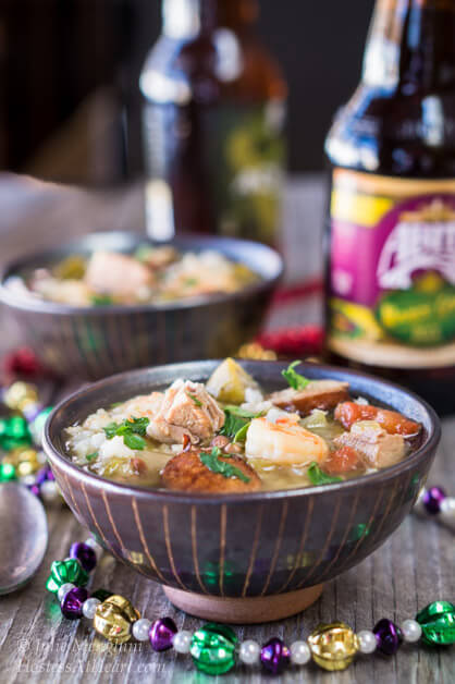 Shrimp, Duck and Andouille Gumbo | Hostess At Heart