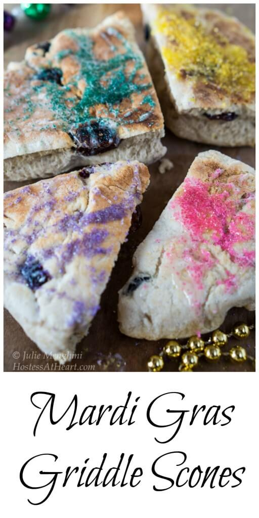 These Griddle Scones are quick, easy and delicious.  They are just begging for a party or celebration and a little imagination! | HostessAtHeart