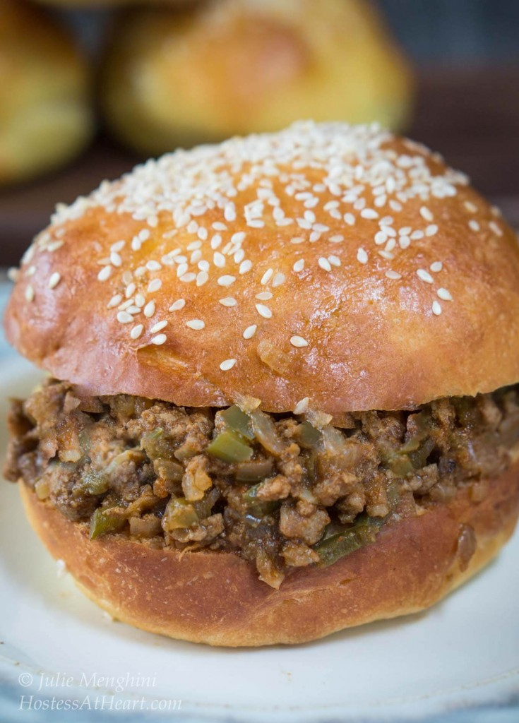 This Turkey Sloppy Joes recipe tastes better than the canned sloppy joes, is just as quick to put together, and no one will know that it's healthier too | HostessAtHeart.com