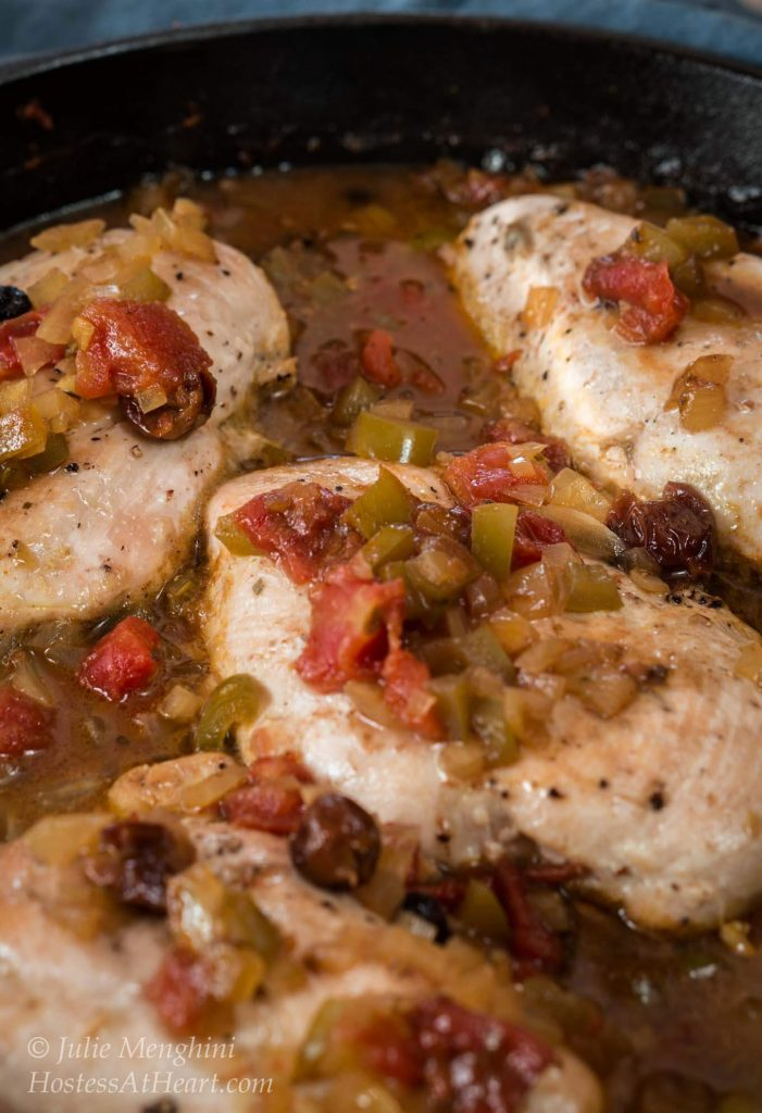 This Country Captain Chicken recipe is easy, delicious, healthy and it's all made in one pan! It has a lot of history that combines Indian and Southern cultures | HostessAtHeart.com