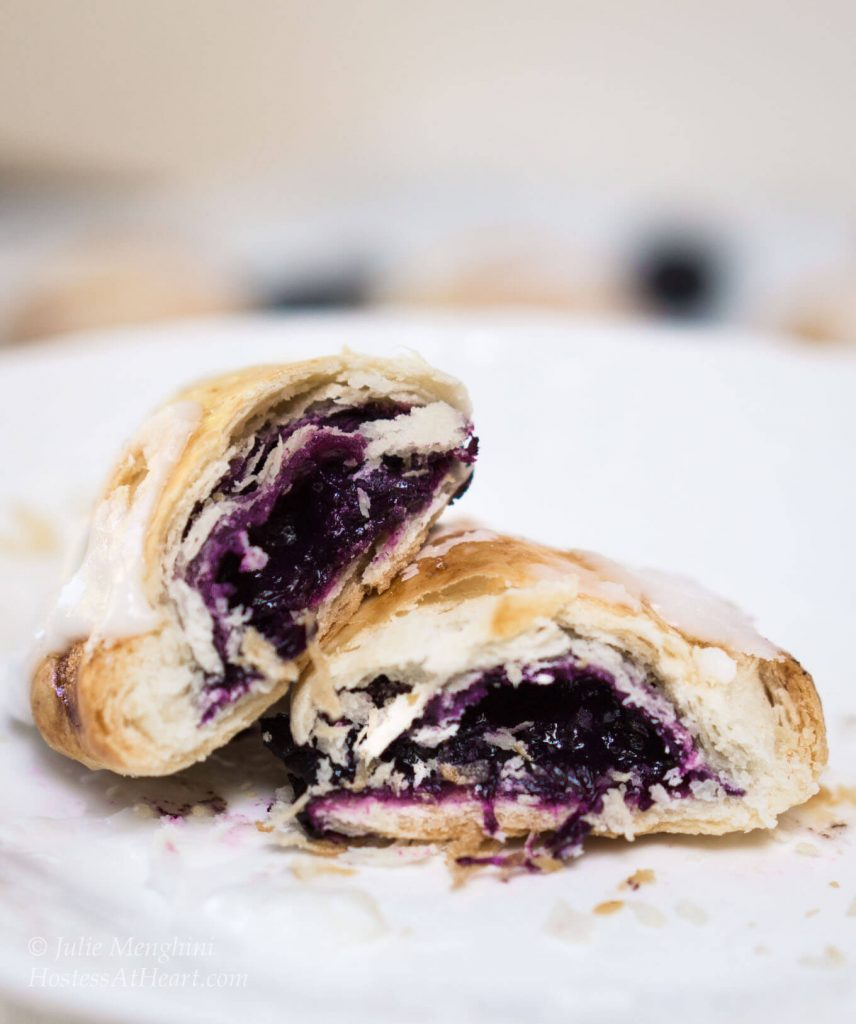 Easy Blueberry Pineapple Hand Pies are a snap to put together and make any breakfast, snack or dessert special | HostessAtHeart.com