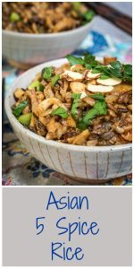 Asian 5 Spice Rice recipe is perfect as a side dish or main meal. You can make it as spicy as you want. Toss in some chicken for another option | HostessAtHeart.com
