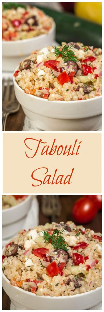 Tabouli Salad has Greek flavors and is a quick, delicious and healthy salad to make. It can easily be made ahead of time and is perfect for any occasion | HostessAtHeart.com