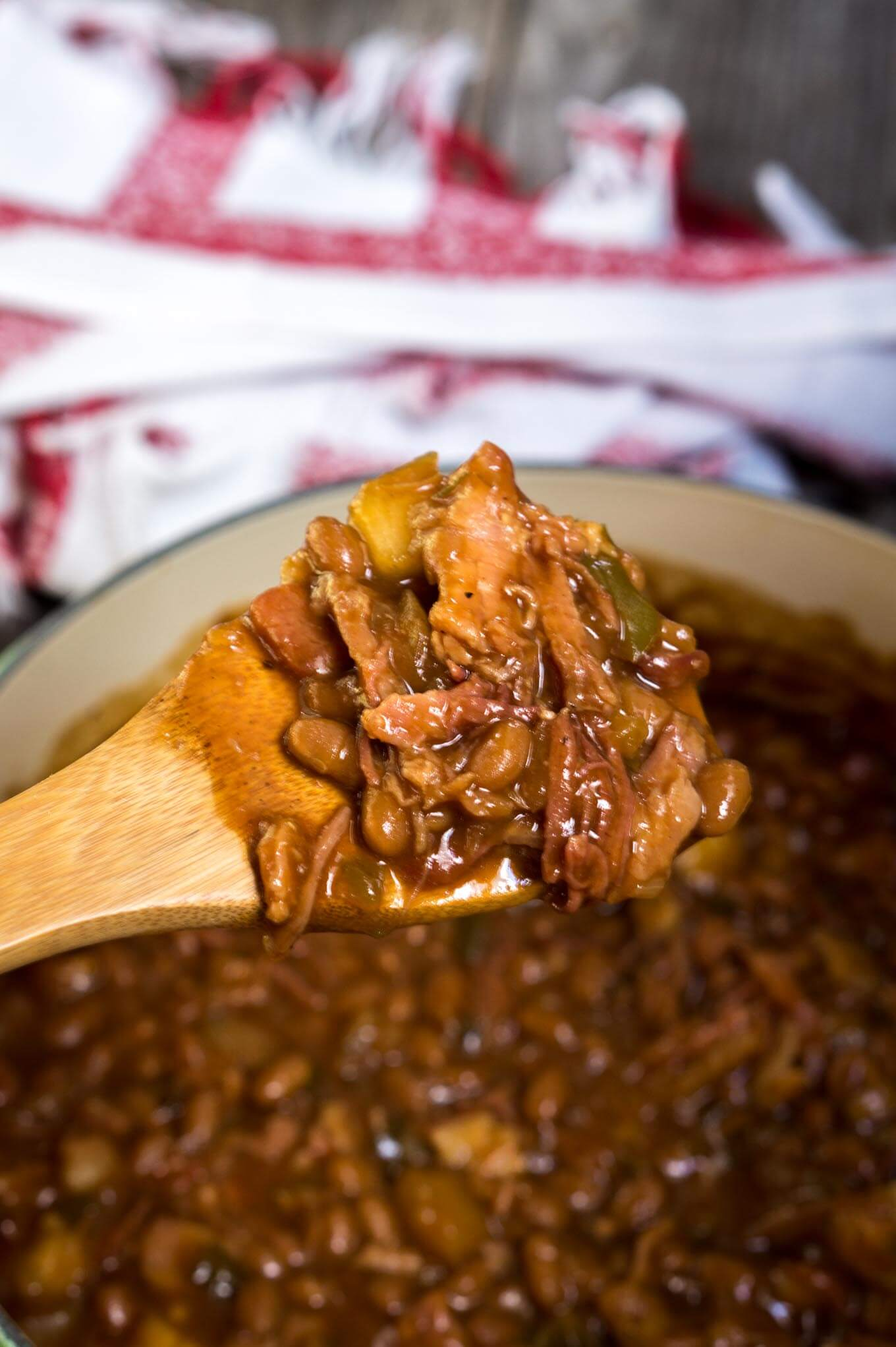 Apple Baked Beans can be cooked on the grill, over a campfire or in the oven. They make the perfect side for any barbecue.