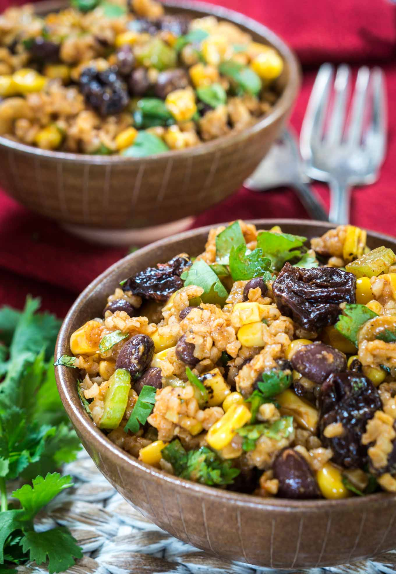 Cherry Chipotle Salad has an explosion of flavors. You get the sweetness of the cherries and finish with a nice chipotle kick. It's a perfect make-ahead salad. | HostessAtHeart.com