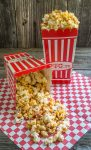 Honey nut popcorn with bacon is the perfect snack and would be amazing for a tailgate party. Make plenty because it's addicting | HostessAtHeart.com