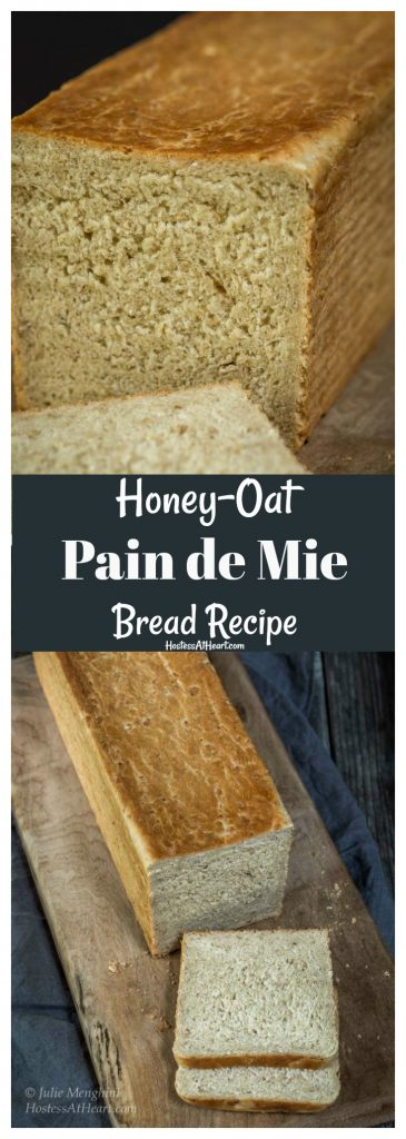 Pinterest collage of loaf of pain de mie bread