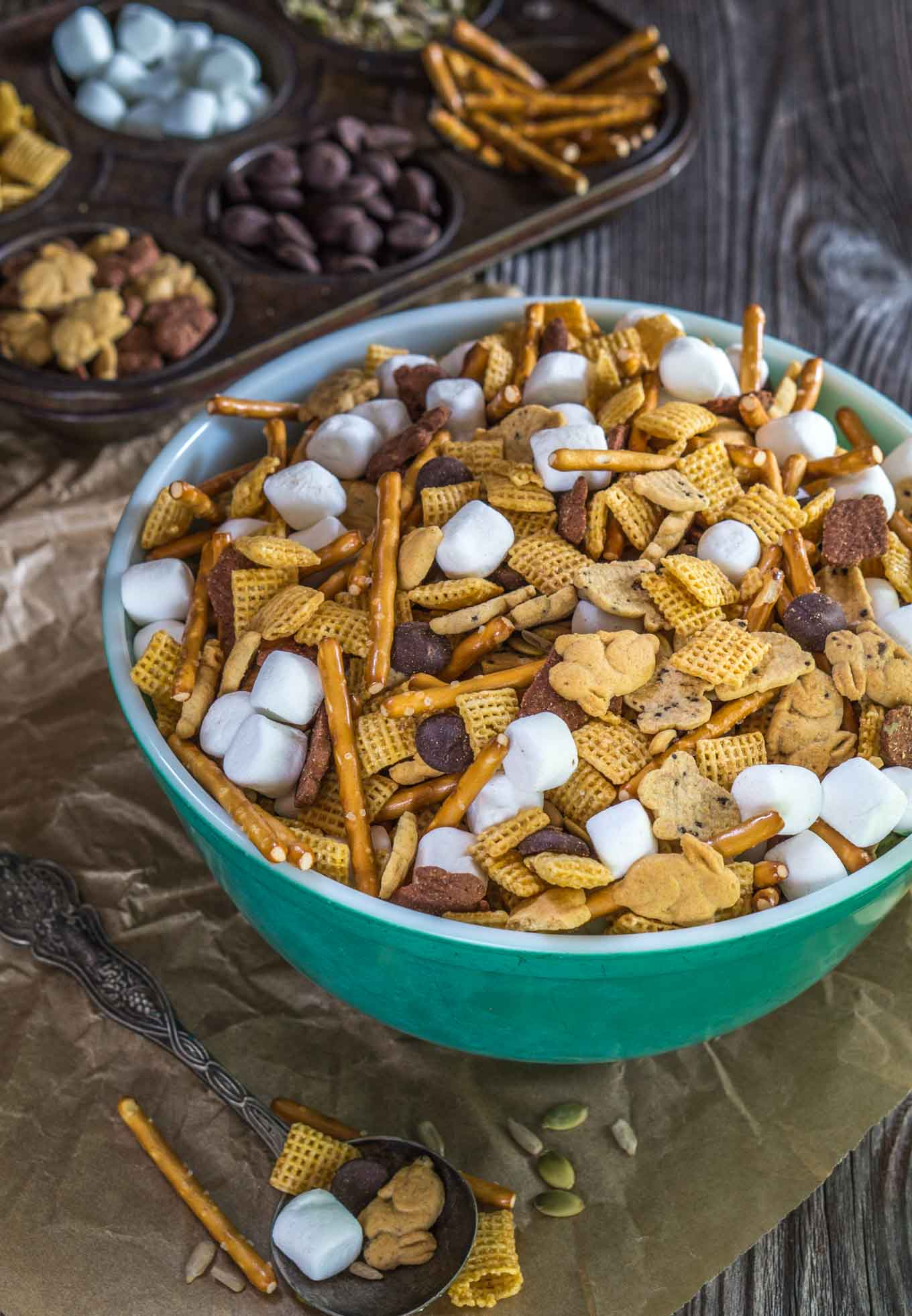 This Hoppin Down The Bunny Trail Mix recipe includes whole grains and good for you seeds. It's a great snack that's perfect after school or when traveling | HostessAtHeart.com