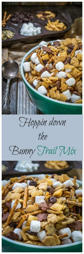 Hoppin Down The Bunny Trail Mix is a great snack that includes whole grains and some good for you seeds. It's a perfect for after school or for traveling   HostessAtHeart.com