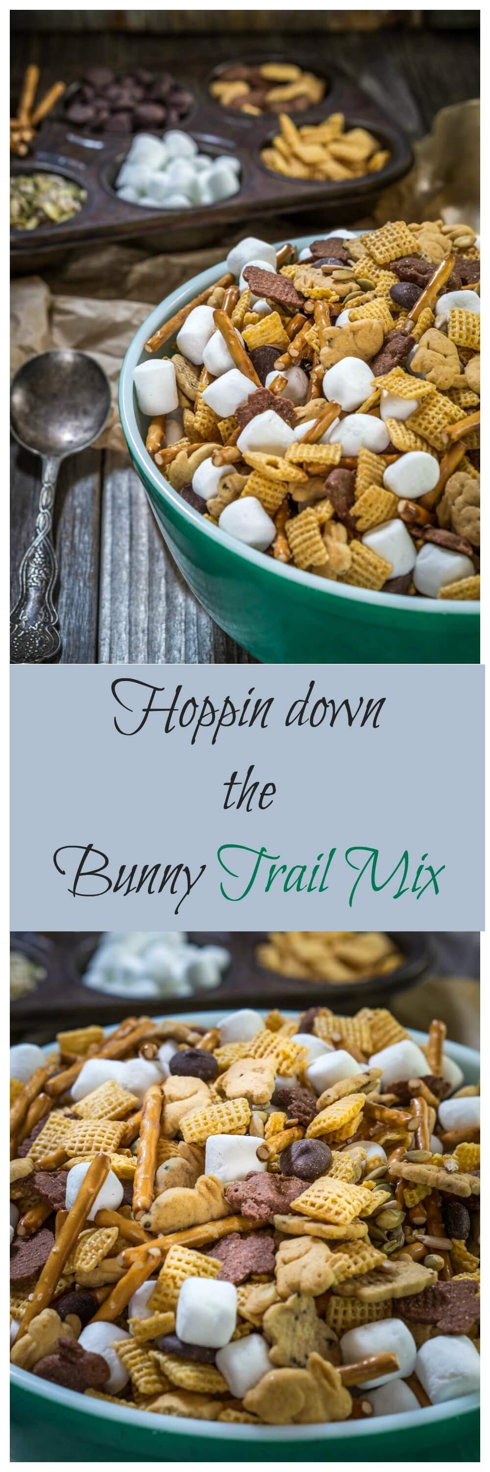 Hoppin Down The Bunny Trail Mix is a great snack that includes whole grains and some good for you seeds. It's a perfect for after school or for traveling | HostessAtHeart.com