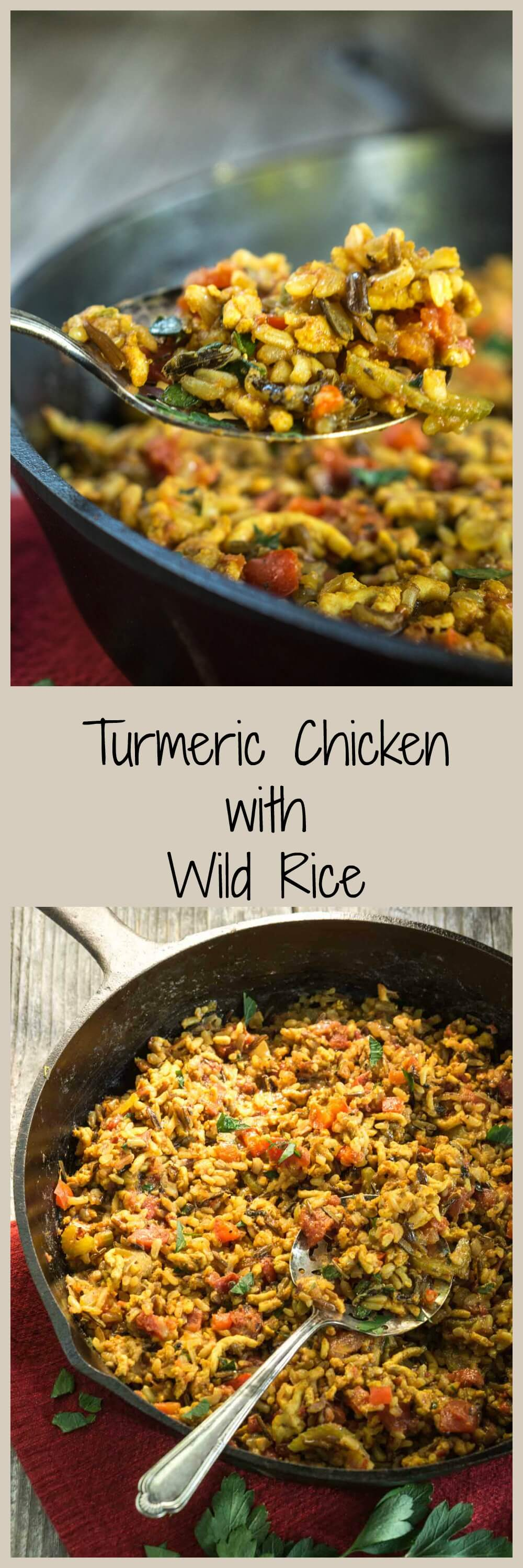 Turmeric Chicken with Wild Rice is a quick and easy dish that is just as healthy as it is delicious | HostessAtHeart.com