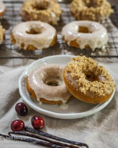 Cranberry Vanilla Baked Donuts are soft, tender, and delicious. They can be made in a jiffy and topped with anything you desire | HostessAtHeart.com