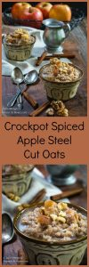 Waking up to a warm breakfast that smells like apple pie is a great way to start your day. Crockpot Spiced Apple Steel Cut Oats is delicious, healthy, and will keep you satisfied until lunch. | HostessAtHeart.com