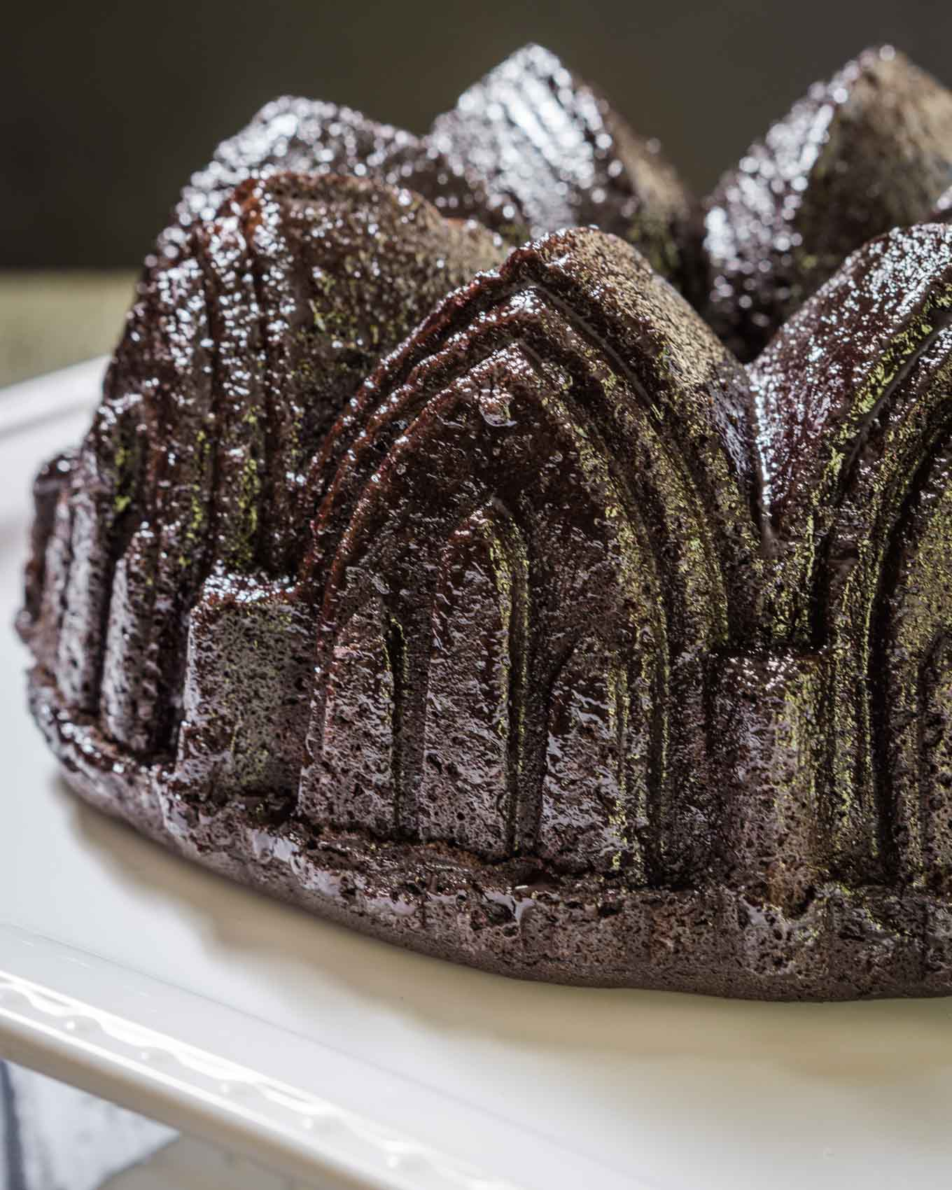 There are some flavors that are just meant to go together like chocolate and raspberry.  Wrap them both up in a Raspberry Chocolate Pound Cake and you have a 5-star winner. | HostessAtHeart.com